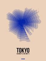 Tokyo Radiant Map 2 Fine Art Print