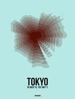 Tokyo Radiant Map 4 Fine Art Print