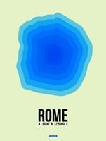 Rome Radiant Map 1 Fine Art Print