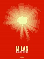 Milan Radiant Map 2 Fine Art Print