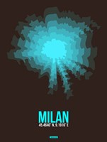 Milan Radiant Map 3 Fine Art Print