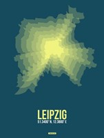 Leipzig Radiant Map 3 Fine Art Print