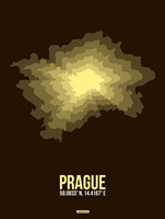 Prague Radiant Map 1 Fine Art Print