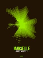 Marseille Radiant Map 1 Fine Art Print