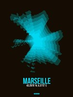 Marseille Radiant Map 2 Fine Art Print