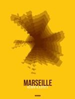 Marseille Radiant Map 3 Fine Art Print