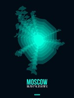 Moscow Radiant Map 3 Fine Art Print