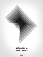 Washington DC Radiant Map 5 Fine Art Print