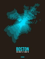 Boston Radiant Map 2 Fine Art Print