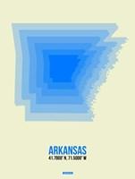 Arkansas Radiant Map 2 Fine Art Print