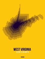 West Virginia Radiant Map 3 Fine Art Print