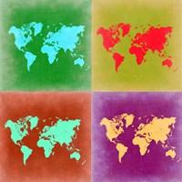 Pop Art World Map 3 Fine Art Print