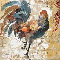 Rooster Flair I Fine Art Print