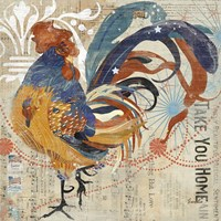 Rooster Flair IV Fine Art Print