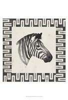 Safari Zebra I Framed Print