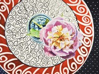 Flower on Plate I Fine Art Print
