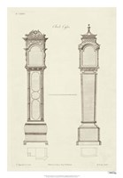 Chippendale Clock Cases II Fine Art Print