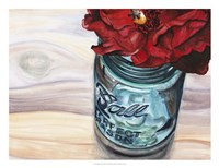 Ball Jar Flower III Framed Print