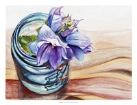 Ball Jar Flower IV Framed Print