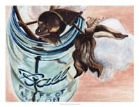 Ball Jar Flower V Fine Art Print