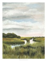 Marsh Landscapes I Framed Print