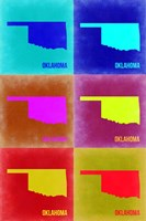 Oklahoma Pop Art Map 2 Fine Art Print