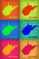 West Virginia Pop Art Map 1 Fine Art Print