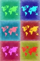 World Map Pop Art 4 Fine Art Print