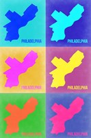 Philadelphia Pop Art Map 3 Fine Art Print