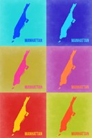 Manhattan Pop Art Map 3 Fine Art Print
