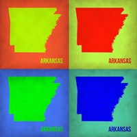 Arkansas Pop Art Map 1 Framed Print
