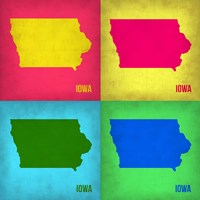 Iowa Pop Art Map 1 Fine Art Print