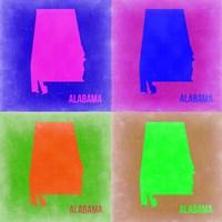 Alabama Pop Art Map 2 Fine Art Print