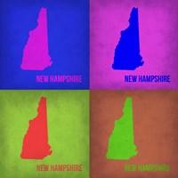 New Hampshire Pop Art Map 1 Fine Art Print