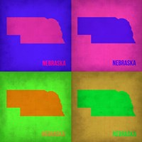 Nebraska Pop Art Map 1 Fine Art Print