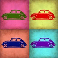 VW Beetle Pop Art 1 Fine Art Print