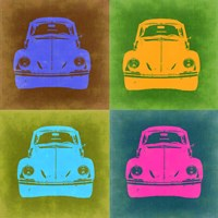 VW Beetle Front Pop Art 2 Fine Art Print
