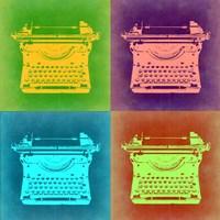 Vintage Typewriter Pop Art 1 Fine Art Print