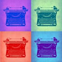 Vintage Typewriter Pop Art 2 Fine Art Print
