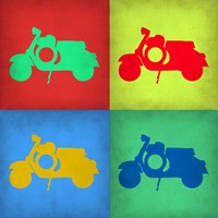 Vintage Scooter Pop Art 1 Fine Art Print