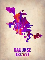 San Jose Watercolor Map Fine Art Print