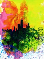 Chicago Watercolor Skyline Fine Art Print