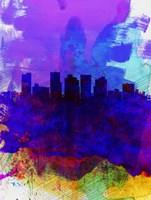 Phoenix Watercolor Skyline 1 Fine Art Print