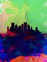 Pittsburgh Watercolor Skyline Fine Art Print