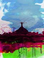 Rio Watercolor Skyline Fine Art Print