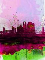 Tokyo Watercolor Skyline Fine Art Print