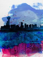 Vancouver Watercolor Skyline Fine Art Print