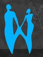 Blue Couple Fine Art Print