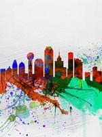 Dallas Watercolor Skyline Fine Art Print