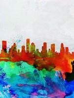Houston Watercolor Skyline Fine Art Print